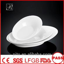 P & T Porzellan Fabrik ovale Platten, Porzellan Platten, weiße tiefe Platten