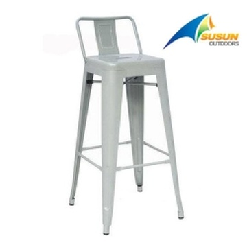 low backrest bar stool