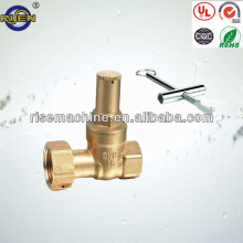 brass pumped leveraged water meter lockable gate valve