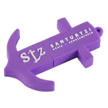 Lila Ankerform USB-Flash-Laufwerk mit Schlüsselbund (EP017)