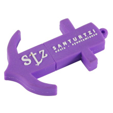Purple Anchor Shape USB Flash Drive with Keychain (EP017)