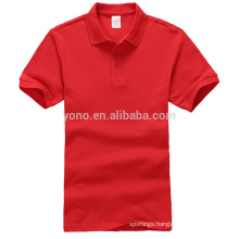 Stock servise cotton material blank wholesale men polo shirt