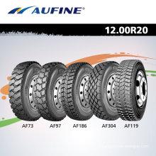 Ônibus pneus, pneus usados, pneus de caminhão para 1200r20, 12.00r24, 315/80R 22.5