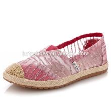 Respirável crianças sapatos casuais espadrille plana sapatos meninas