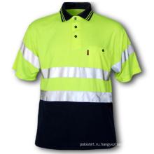 Полиэфирная светоотражающая рубашка поло