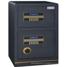 Métal deux portes pleine banque d'acier coffre-fort boîte argent coffre-fort boîte argent coffre-fort