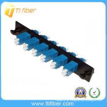 6 portas SM LCUPC Adaptador de Fibra Patch Painel com adaptador LC duplex