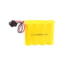 Bateria recarregável 4.8V AA 600 de 1.2V 400mah AA Ni-Cd
