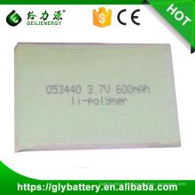 053440 bateria lipo 3.7 v 600 mah