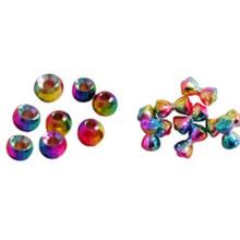 Perlas ranuradas de tungsteno de diamante que atan dia5.5mm en color metalizado-naranja