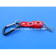 Climbing Button Carabiner PVC Key Chain