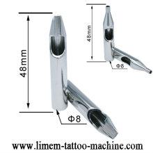 A ponta plástica descartável estéril profissional pré-fabricada da tatuagem derruba a ponta inoxidável do stell