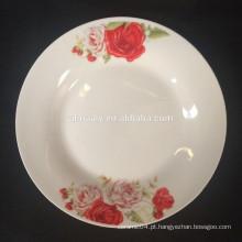 """10,5 """"prato de porcelana cerâmica rosa"""