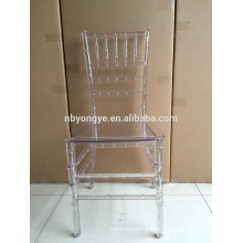 Monobloc ONE PIECE clear resin chiavari chair