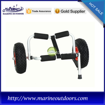 "10"" pneumatic tires beach kayak cart with foam pad"