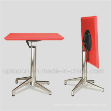 New Fashion Space Saving Red Top Square Folding Table (SP-FT391)
