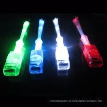 Anel de dedo piscando conduzido da fibra óptica