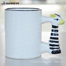 Sublimación Animal taza en blanco cebra