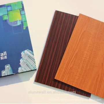 3мм/4мм/5мм древесины зернение алюминиевой композитной панели внутренняя деревянная обшивка стен АКП