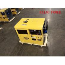 Gerador diesel silencioso da única fase 50Hz / 5.5kw da temperatura com ATS para o uso da casa e do hotel