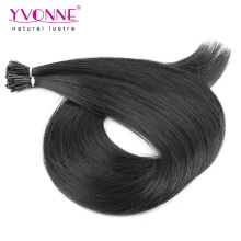 Black Color I Tip Human Hair Extensions for Women