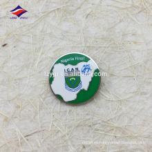 Insignia popular redonda del perno safty del recuerdo de encargo