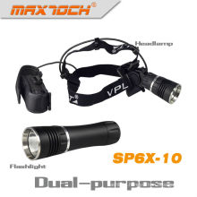 Maxtoch SP6X-10 1000 Lumen Magnet Flashlight And Headlight Dual-purpose Cree LED Headlight