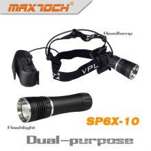 Maxtoch SP6X-10 1000 люмен фонарик магнит и фар двойного Кри привело фар