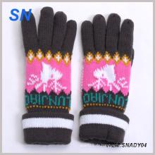Großhandelsart und weise stricken Dame Winter Handschuh China Lieferanten