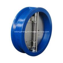 Válvula de retenção de 6 polegadas tipo borboleta para água / esgoto / diesel / gás