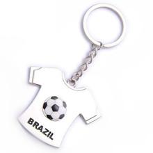 T-shirt en métal personnalisé à thème promotionnel Brésil Gift Keyring Football (F1191)