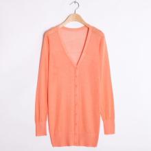 Custom Long Knitted Cardigan Sweater for Women