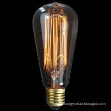 40W 60W 100W St57 Vintage Decoration Edison Bulb
