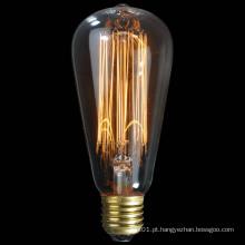 Bulbo de Edison da decoração do vintage de 40W 60W 100W St57