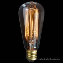 40Вт 60Вт 100Вт St57 старинные украшения Эдисон лампы