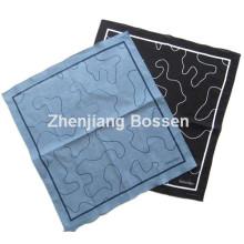 OEM Produce diseño personalizado algodón impreso bufanda de cabeza promocional