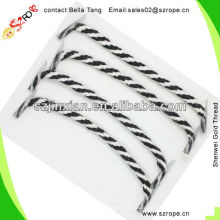 8-strand Twisted Coloured Cotton Braided Rope Handle For Bags