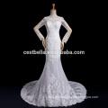 Vestido De Noiva Vestido de Novia de Encaje de Manga Larga con Cola Larga Robe de Lujo De Marriage Marriee