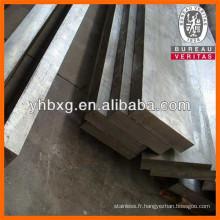 Amorcer des barres plates en acier inoxydable de qualité