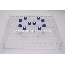 Rack de acrílico para frascos / tubos de vidro de 1,5 ml / 2 ml