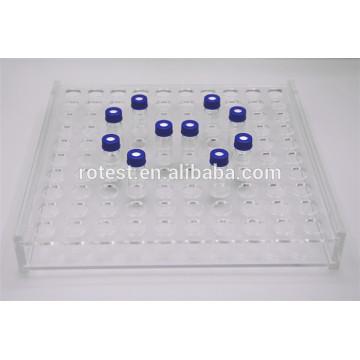 Rack acrílico para viales / tubos de vidrio de 1.5ml / 2ml