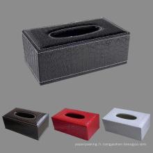 Noir / Marron / Rouge / Blanc Crocodile Boîtes en papier en tissu en cuir