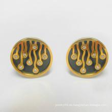 Art- und Weiseschmucksache-Goldbolzen-Ohrringe