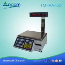 15/30kg Capacity 10g Readability Barcode Scale for Supermarket