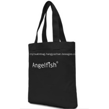 Promotional Logo Black Colour Canvas Tote Bags