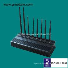 433MHz 315MHz schwarzer mobiler Jammer (GW-JA8)