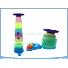Educational Toys Stacked Cups Tower with Lighting Balls