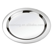 16Inch Stainless Steel Round Lunch Plate