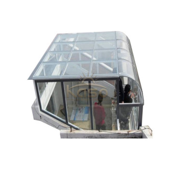 Glass Pool House Winter Garten Marco de aluminio Sunroom