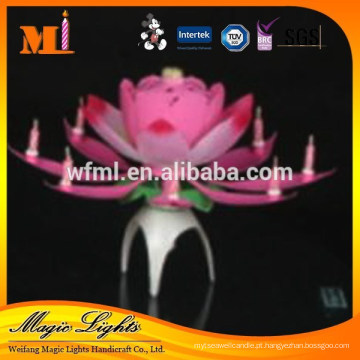 Sparking Flor Musiclly Vela Para Fontes da Festa de Aniversário